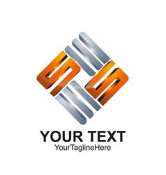 S letter logo icon template symbol logotype vector
