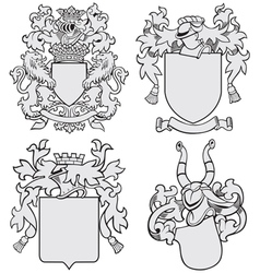 set aristocratic emblems no7 vector image