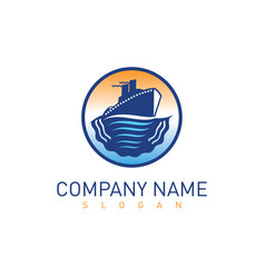 ship logo 3 vector image