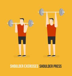 Shoulder exercises shoulder press vector
