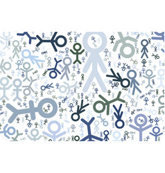 Sign of people or human texture generative art vector