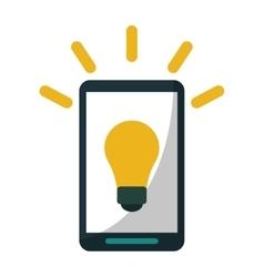 Smartphone bulb idea imagination vector