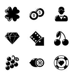 Stake icons set simple style vector