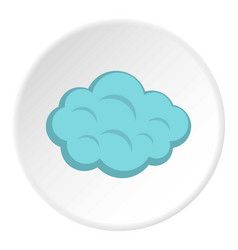 Summer cloud icon circle vector