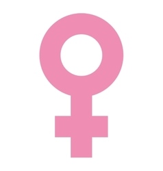 symbol female pink icon vector image