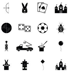 Toy icon set vector