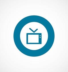 tv bold blue border circle icon vector image
