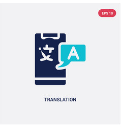 Two color translation icon from artificial vector