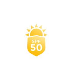Uv sun protection spf 50 icon vector