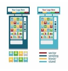 Vending Kiosk Terminal Stand vector