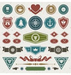 Vintage style retro emblem vector image
