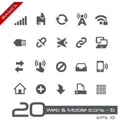 web and mobile icons-6 - basics vector image