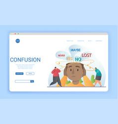 Website template design conceptual confusion vector