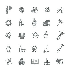 wine icons set wine icons vector image