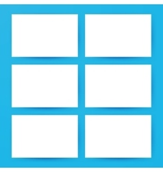Blank Horizontal Cards Mockup vector image vector image