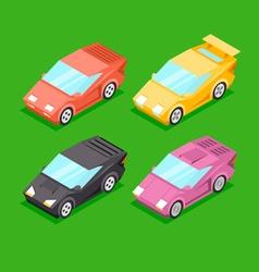 Cartoon Isometric Super Cars vector image vector image