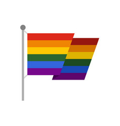 flag lgbt icon flat style vector image