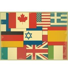 Flag Retro Background vector image