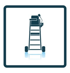 Tennis referee chair tower icon vector image