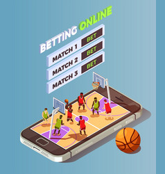 basketball betting online concept vector image