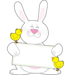 Bunny Sign vector image vector image