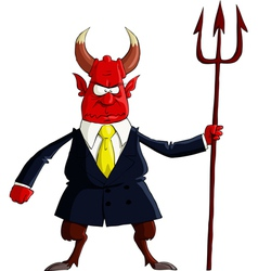 devil boss vector image