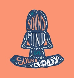 Heathcare Sport Body and Mind vector image