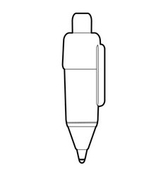 Marker pen icon outline style vector