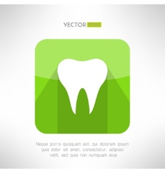 Tooth icon made in modern clean and simple flat vector image