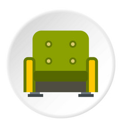 armchair icon circle vector image