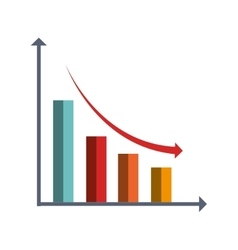 Business finance graphic statistics icon vector image