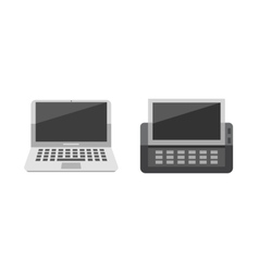 Computer laptop network technology vector image vector image