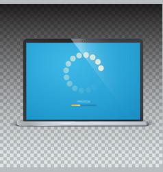 load bar for mobile apps web preloader on screen vector image vector image