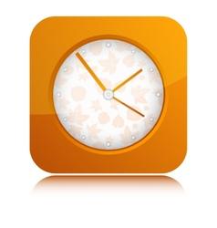 Orange Clock vector image vector image