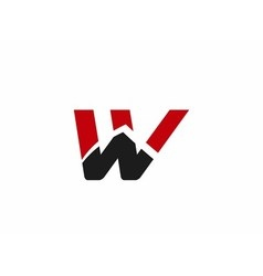 W logo icons vector image vector image