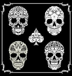 Bundle Skull Ornamental vector image
