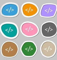 Code sign icon Programming language symbol vector image