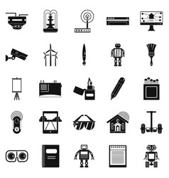 gift icons set simple style vector image vector image