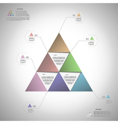 Infogrphic triangle for data presentation vector image vector image
