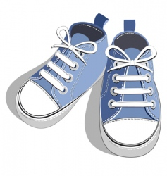 kids shoes vector image vector image