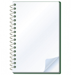 notepad object vector image vector image