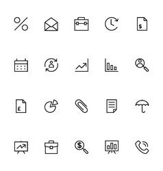 Trade Outline Icons 1 vector image vector image