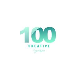 100 green pastel gradient number numeral digit vector