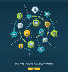 abstract development and programming background vector image