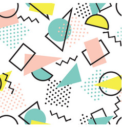 abstract seamless pattern with blots and dots vector image