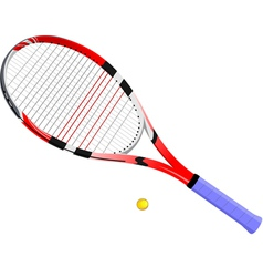 al 0724 tennis racket and ball vector image