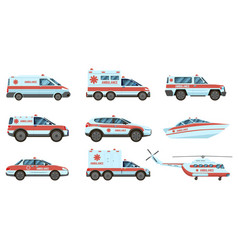 ambulance emergency vehicles official city vector image