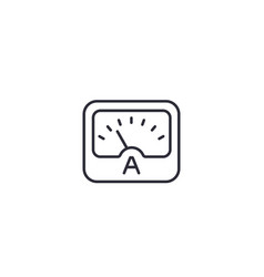 Ammeter line icon on white vector