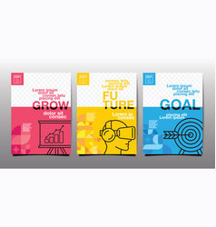 Annual report future business template layout vector