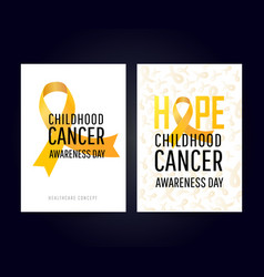 Banner for childhood cancer awareness day vector